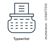 typewriter icon vector isolated ... | Shutterstock .eps vector #1156077253