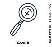 zoom in icon vector isolated on ...   Shutterstock .eps vector #1156077400