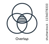 overlap icon vector isolated on ...   Shutterstock .eps vector #1156078333