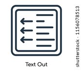 text out icon vector isolated...