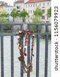 Locks And Chain On Bridge ...