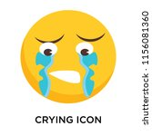 crying icon vector isolated on... | Shutterstock .eps vector #1156081360