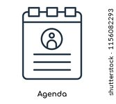 agenda icon vector isolated on... | Shutterstock .eps vector #1156082293