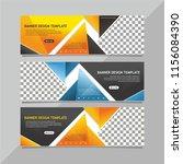 modern web banner template   Shutterstock .eps vector #1156084390