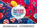 labor day sale poster template... | Shutterstock .eps vector #1156084603