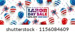labor day sale poster template... | Shutterstock .eps vector #1156084609