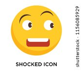 shocked icon vector isolated on ... | Shutterstock .eps vector #1156085929