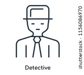 detective icon vector isolated... | Shutterstock .eps vector #1156086970