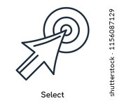 select icon vector isolated on... | Shutterstock .eps vector #1156087129