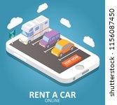 online car rental concept...   Shutterstock . vector #1156087450