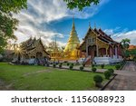 phra sing temple landmark for...   Shutterstock . vector #1156088923