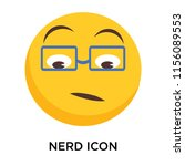 nerd icon vector isolated on... | Shutterstock .eps vector #1156089553