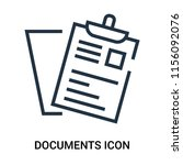 documents icon vector isolated... | Shutterstock .eps vector #1156092076