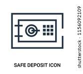 safe deposit icon vector... | Shutterstock .eps vector #1156092109
