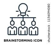 brainstorming icon vector... | Shutterstock .eps vector #1156094080