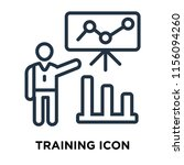 training icon vector isolated...