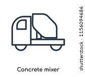 concrete mixer icon vector... | Shutterstock .eps vector #1156094686