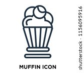 muffin icon vector isolated on... | Shutterstock .eps vector #1156095916