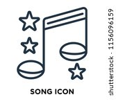 song icon vector isolated on...   Shutterstock .eps vector #1156096159