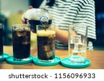 glass of soda waters or is a... | Shutterstock . vector #1156096933