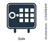 safe icon vector isolated on... | Shutterstock .eps vector #1156098349