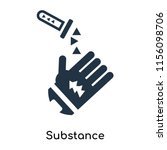 substance icon vector isolated... | Shutterstock .eps vector #1156098706