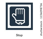 stop icon vector isolated on... | Shutterstock .eps vector #1156098736