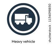 heavy vehicle icon vector...   Shutterstock .eps vector #1156098850