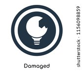 damaged icon vector isolated on ... | Shutterstock .eps vector #1156098859
