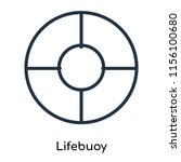 lifebuoy icon vector isolated... | Shutterstock .eps vector #1156100680