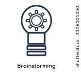 brainstorming icon vector... | Shutterstock .eps vector #1156101250
