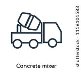 concrete mixer icon vector... | Shutterstock .eps vector #1156101583