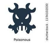 poisonous icon vector isolated... | Shutterstock .eps vector #1156102030