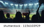 fans celebrating the success of ... | Shutterstock . vector #1156103929