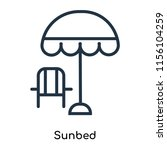 sunbed icon vector isolated on... | Shutterstock .eps vector #1156104259