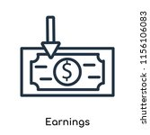 earnings icon vector isolated... | Shutterstock .eps vector #1156106083
