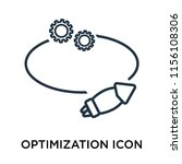 optimization icon vector... | Shutterstock .eps vector #1156108306