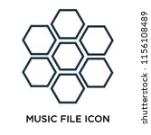 music file icon vector isolated ...