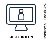 monitor icon vector isolated on ... | Shutterstock .eps vector #1156108993