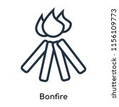 bonfire icon vector isolated on ... | Shutterstock .eps vector #1156109773