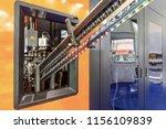 automatic pet  plastic bottle...   Shutterstock . vector #1156109839