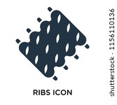 ribs icon vector isolated on... | Shutterstock .eps vector #1156110136