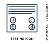 testing icon vector isolated on ...