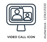 video call icon vector isolated ... | Shutterstock .eps vector #1156115233