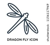 dragon fly icon vector isolated ...   Shutterstock .eps vector #1156117969