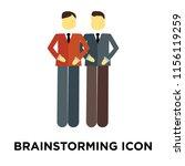 brainstorming icon vector... | Shutterstock .eps vector #1156119259