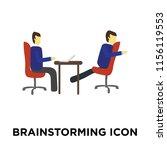brainstorming icon vector... | Shutterstock .eps vector #1156119553