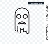 ghost vector icon isolated on... | Shutterstock .eps vector #1156120303