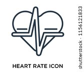 heart rate icon vector isolated ... | Shutterstock .eps vector #1156121833