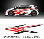 car decal design vector.... | Shutterstock .eps vector #1156121983